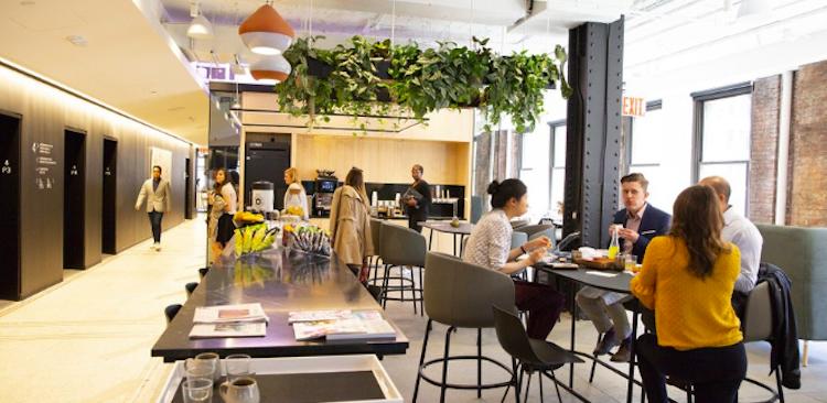 people in modern office