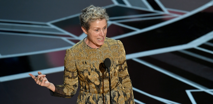 Frances McDormand at the 2018 Oscars