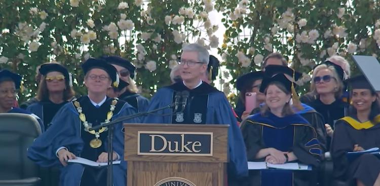 Tim Cook at Duke University in 2018