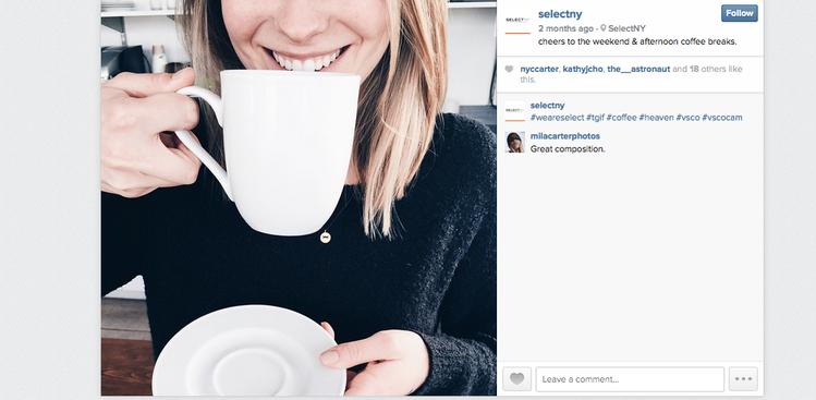 use instagram get a job