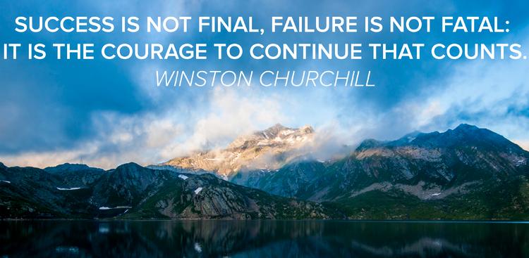 Winston Churchill quote success failure