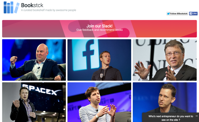 Dubbed A Curated Bookshelf Made By Awesome People Bookstck Features Over 100 Books Recommended Your Favorite CEOs And Entrepreneurs Think Mark