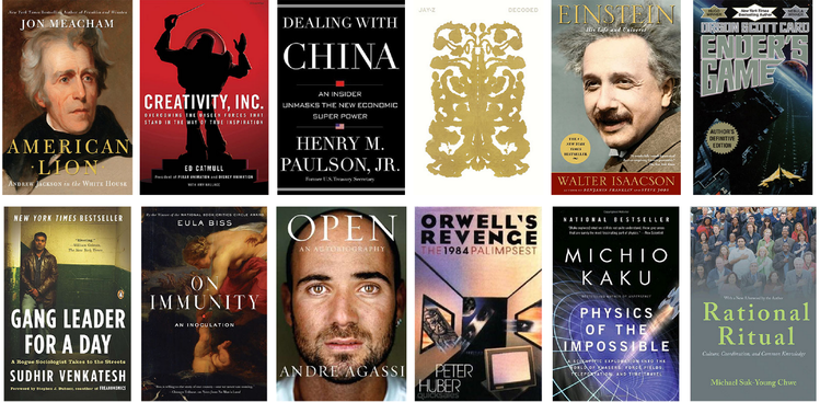 Mark Zuckerberg's recommended books reading list