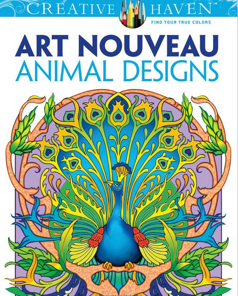 Art Nouveau Animal Designs Adult Coloring Book