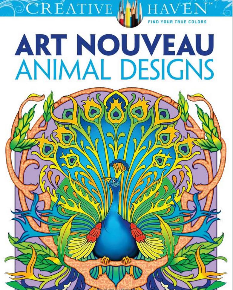 Creative Haven Art Nouveau Animal Designs Coloring Book By Marty Noble