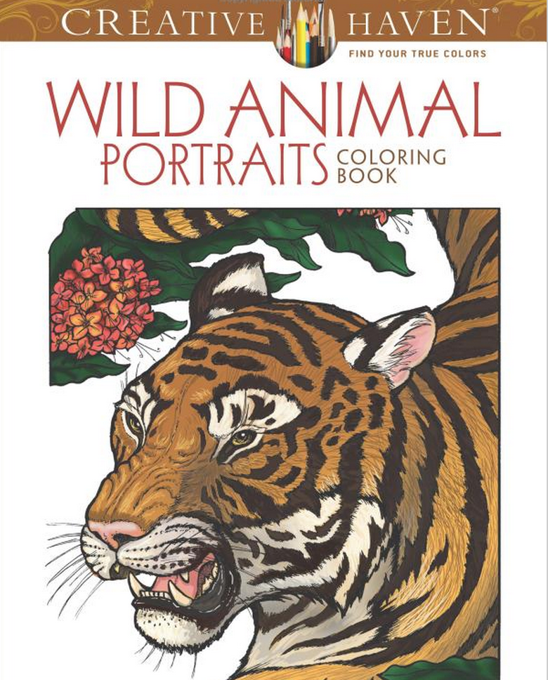 Wild Animal Adult Coloring Book