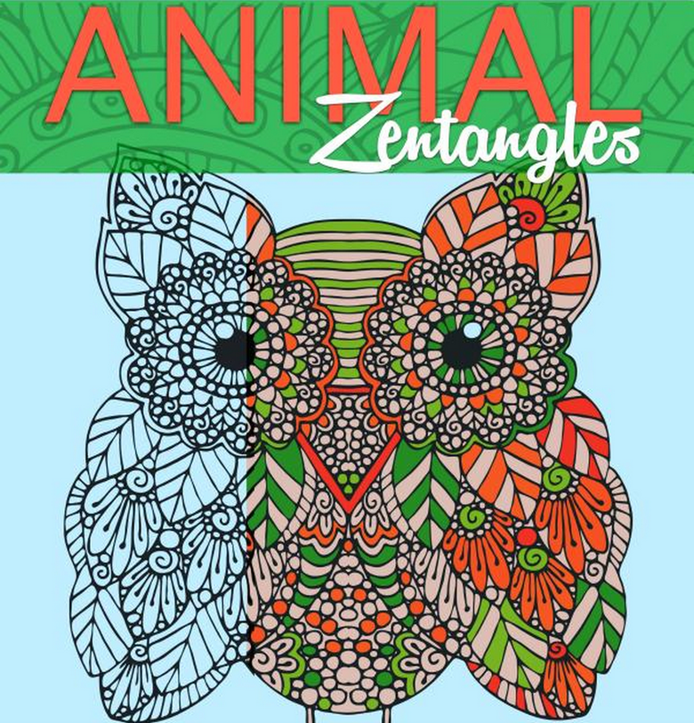 Animal Zenrangles Adult Coloring Book