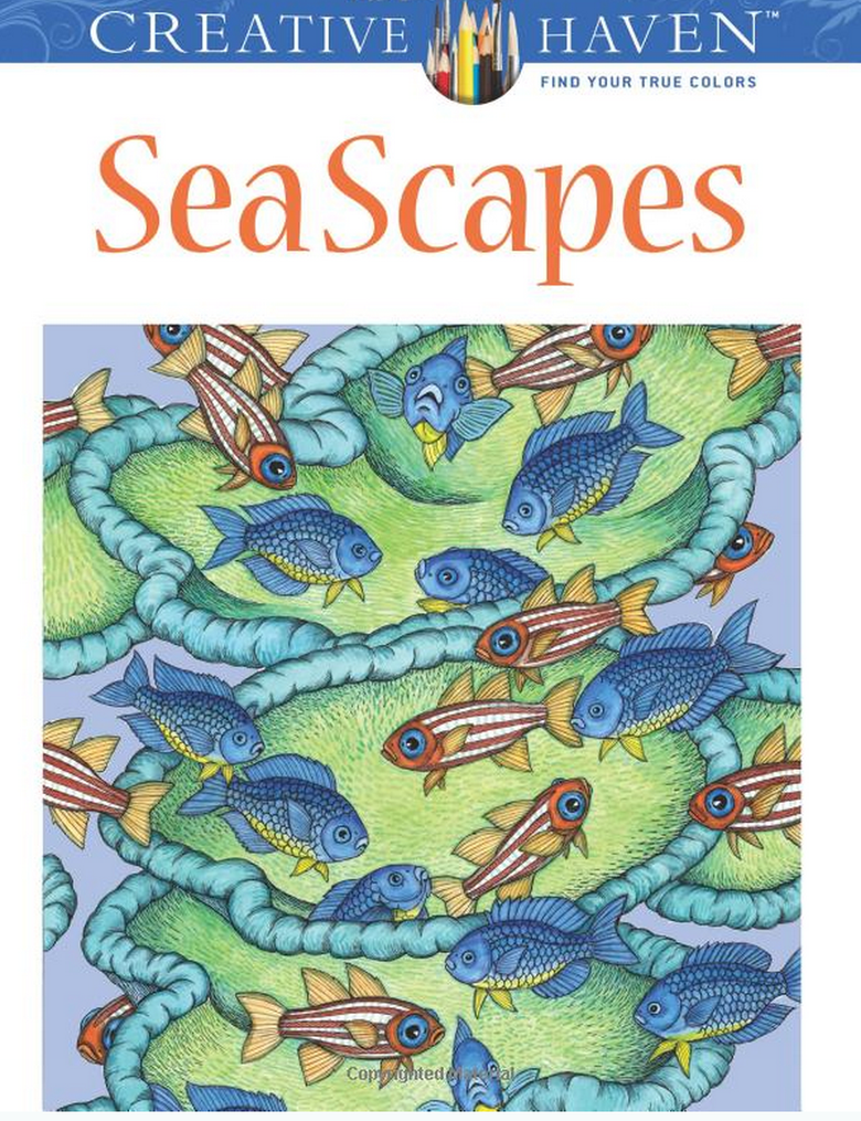 Sea Scapes Adult Coloring Book