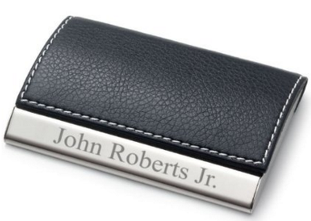 gifts for bosses: personalized business card case
