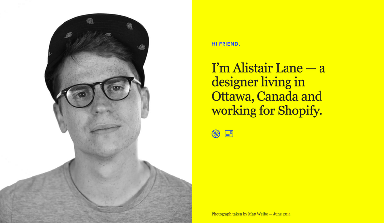 Alistair Lane one page website