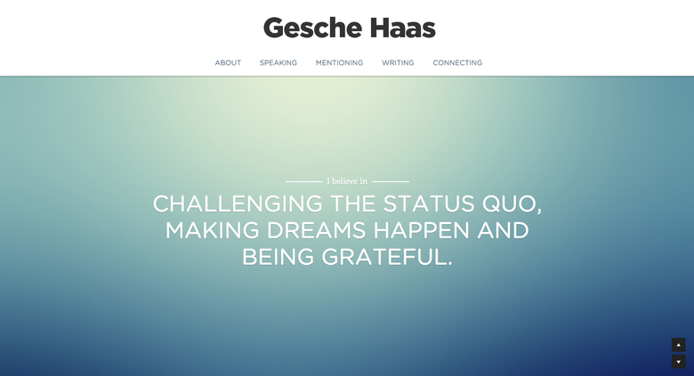 Gesche Haas one page website