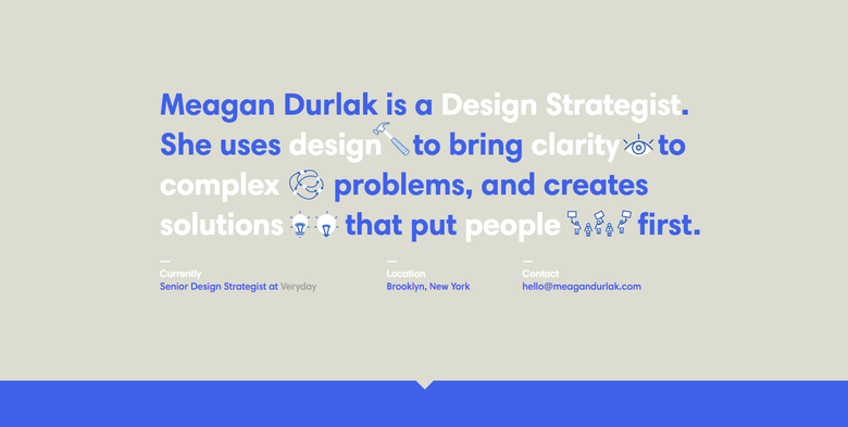 Meagan Durlak one page website