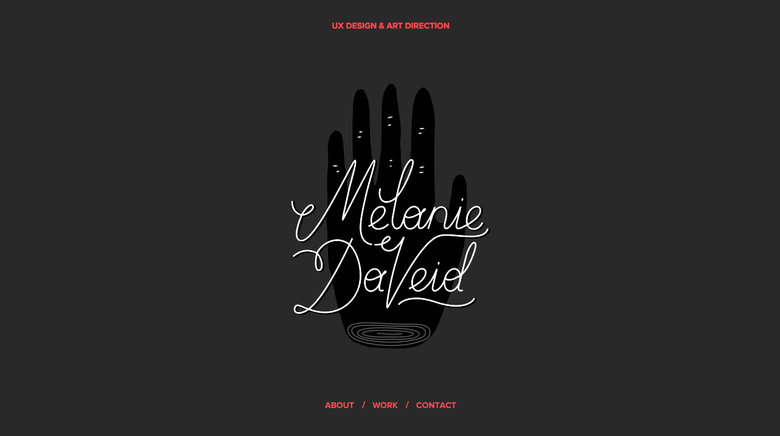 Melanie Daveid one page website
