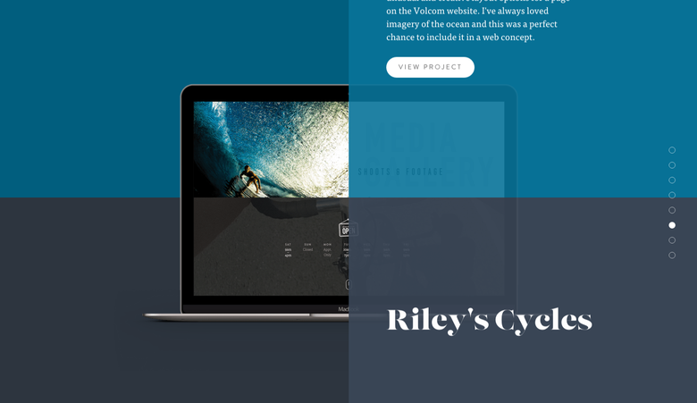 Nathan Riley one page website