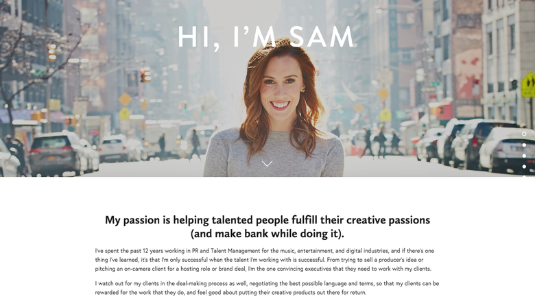 Samantha Marpe one page website