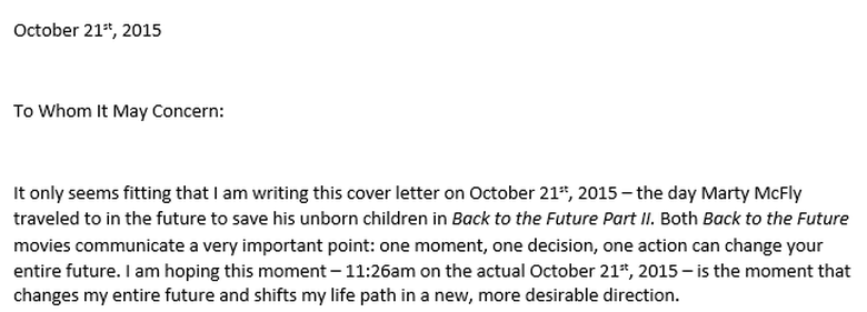 And You Better Bet That 26 Years Later I Used This Coincidence To Make My Cover Letter More Captivating After All Was On A Mission Some Hiring