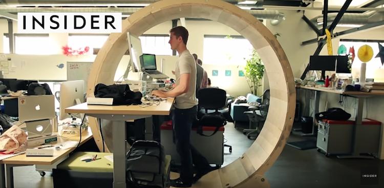 How to Make Hamster Wheel Standing Desk