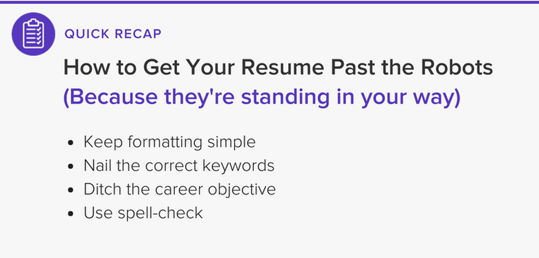 How to get your resume past the ats robots the muse at the end of the day once your resume passes the unfailing eye of the ats it will then be scrutinized by a human eye the good news is that all of altavistaventures Image collections