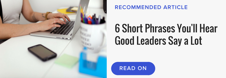 Read next article banner leadership phrases