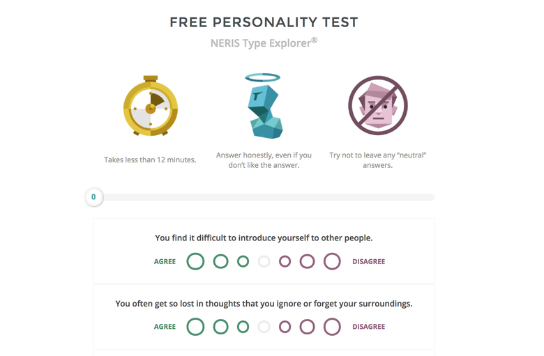 who are you personality test