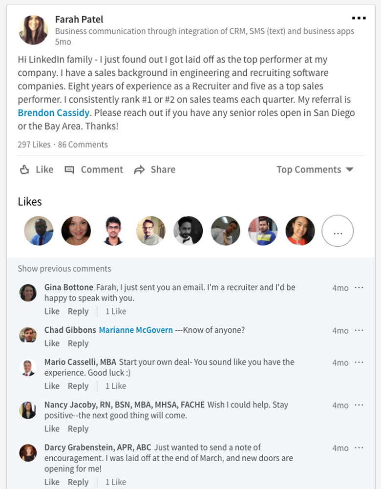 how linkedin can help you get a job after a layoff the muse