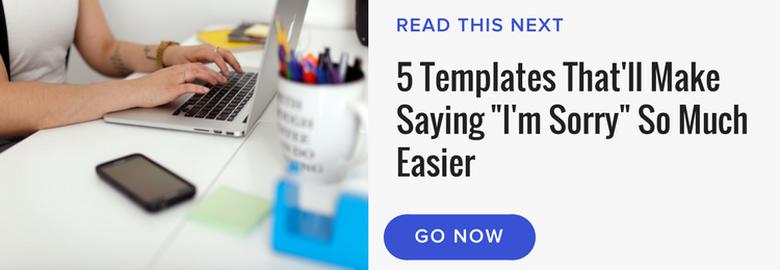 read next say sorry templates