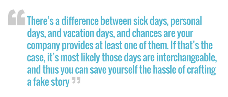 Can I Take a Sick Day at Work When I'm Not Sick? - The Muse