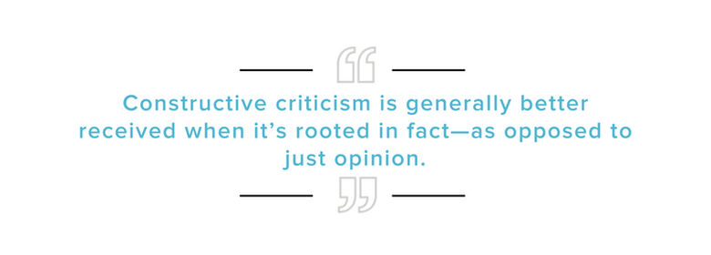Offering Constructive Criticism