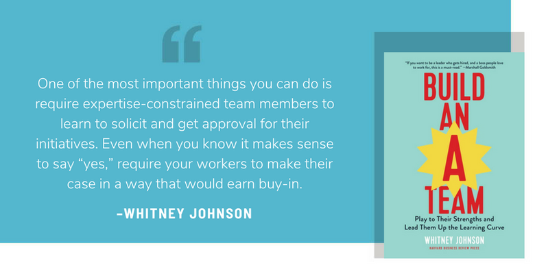 Whitney Johnson Build an A Team quote