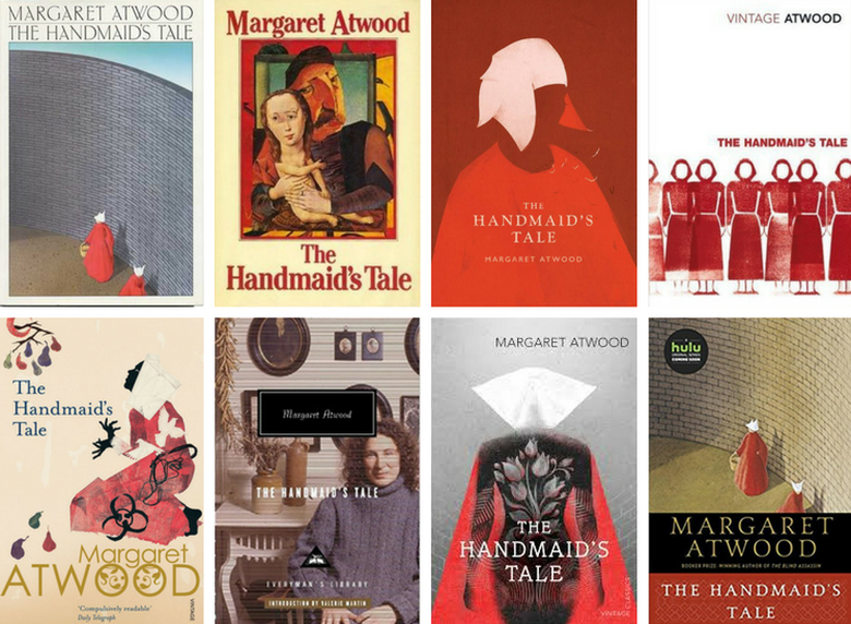 The Handmaid's Tale covers collage