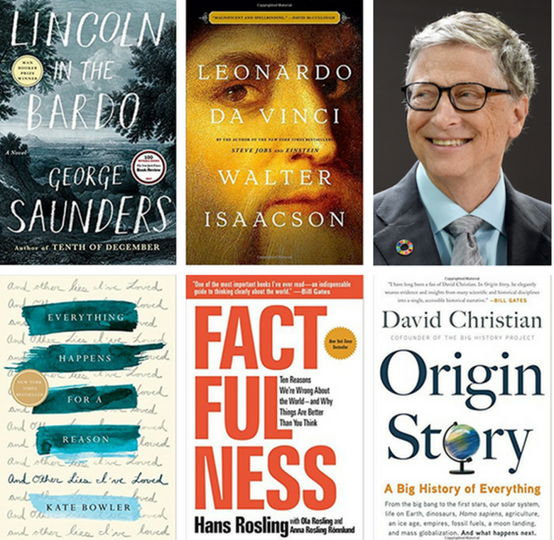 Bill Gates' summer reading book list for 2018.
