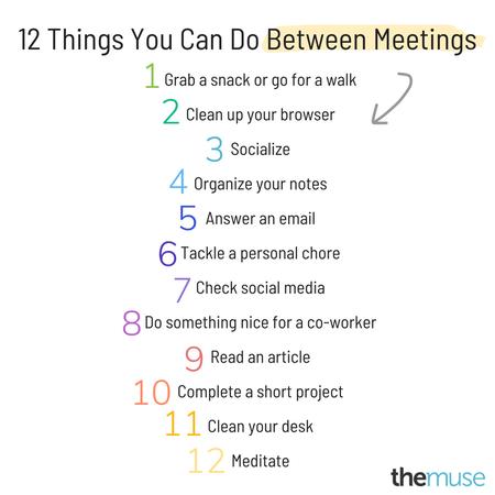12 things you can do between meetings