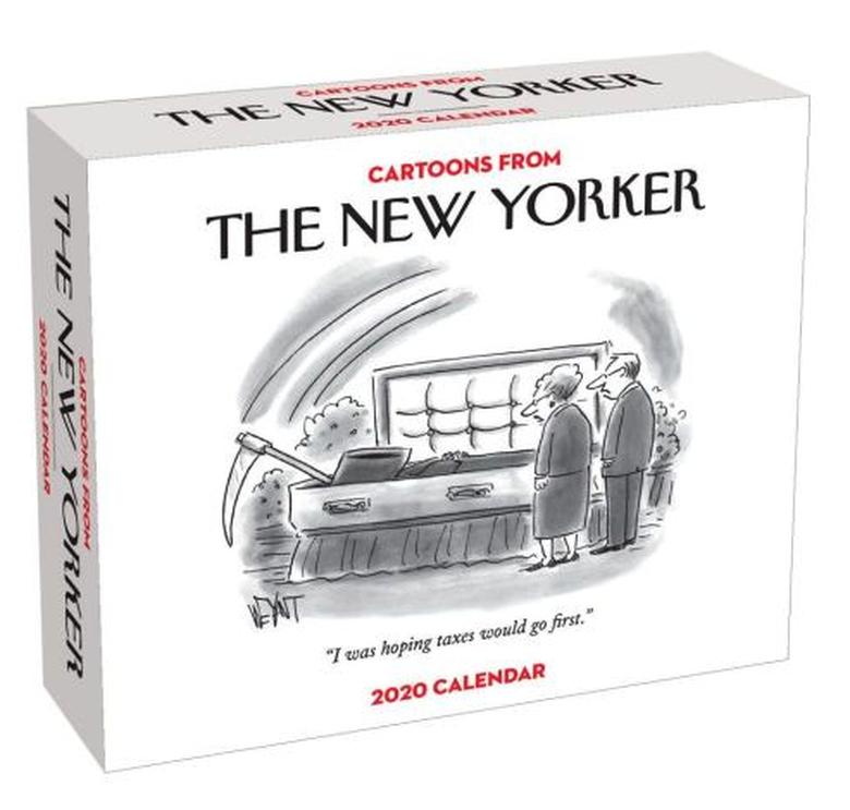 New Yorker desk calendar box