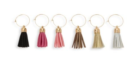 gifts for bosses: tassel wine charms