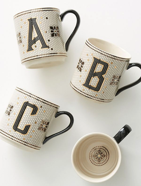 gift for business mentor: monogrammed mug