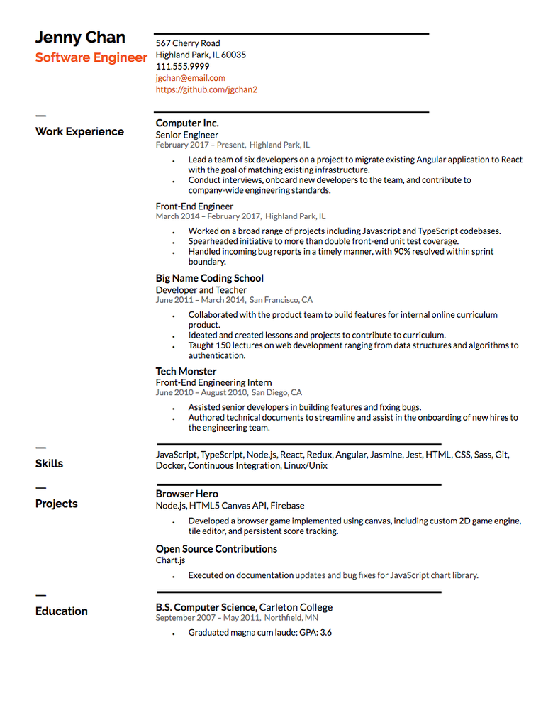 How To Make The Perfect Resume With Examples The Muse