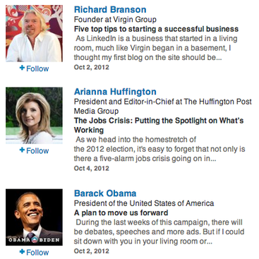 Career Guidance - Virtual Mentors on LinkedIn: Follow Obama, Romney, and More